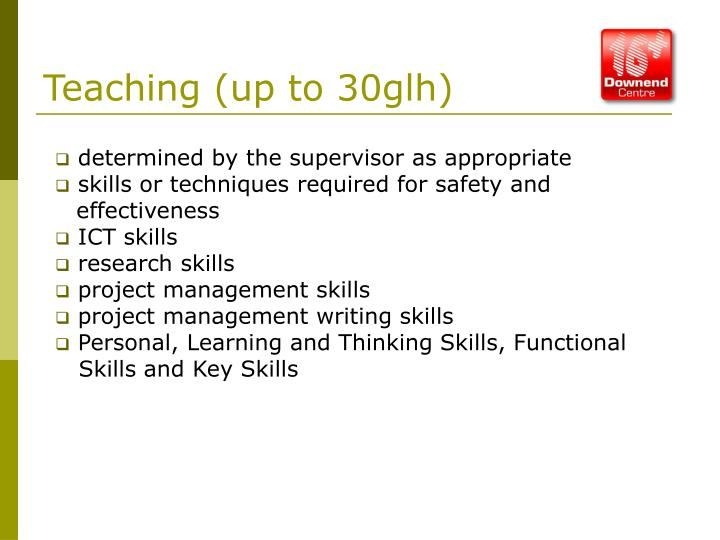 Teaching (up to 30glh)