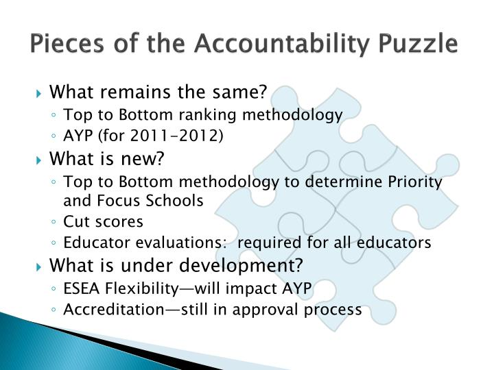Pieces of the Accountability Puzzle