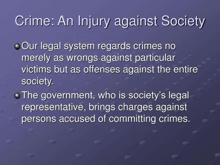 Crime: An Injury against Society