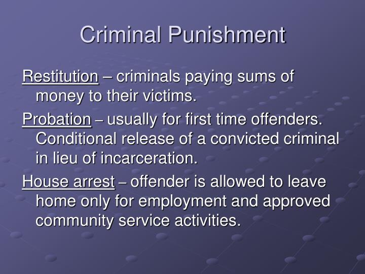 Criminal Punishment