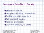 insurance benefits to society