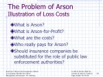 the problem of arson illustration of loss costs1