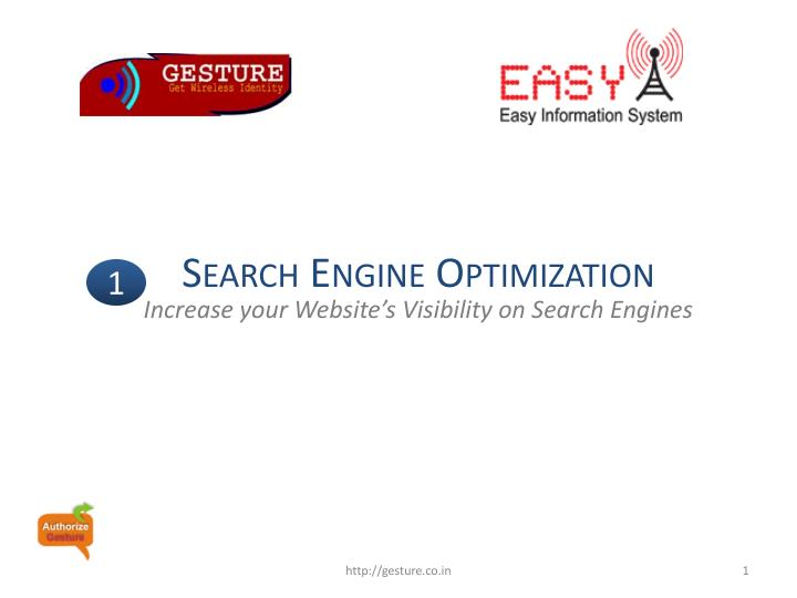 Search engine optimization increase your website s visibility on search engines