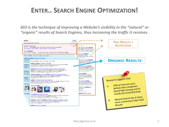 Enter.. Search Engine Optimization!