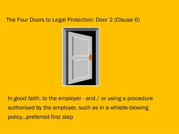 The Four Doors to Legal Protection: Door