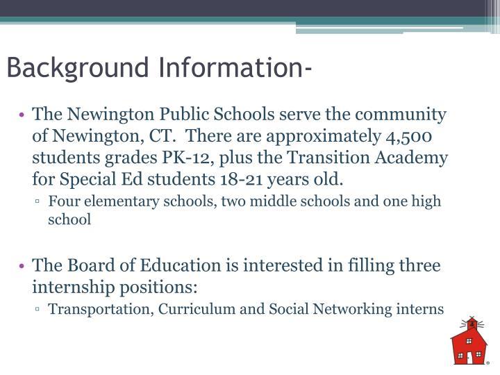 Background Information-