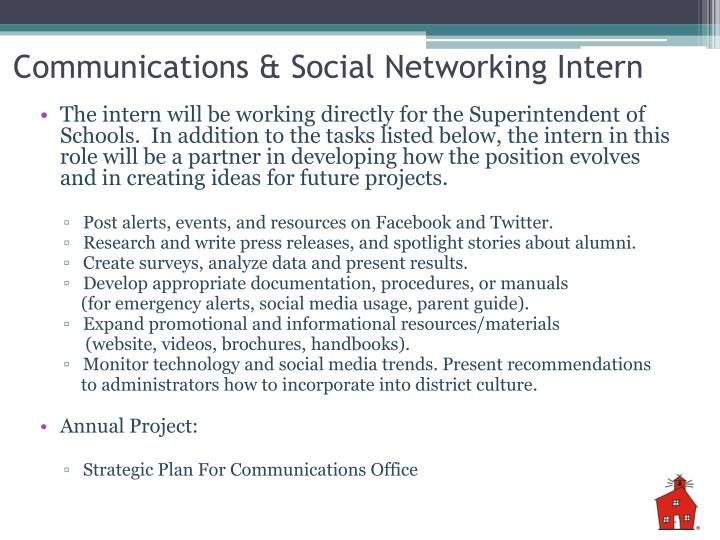 Communications & Social Networking Intern