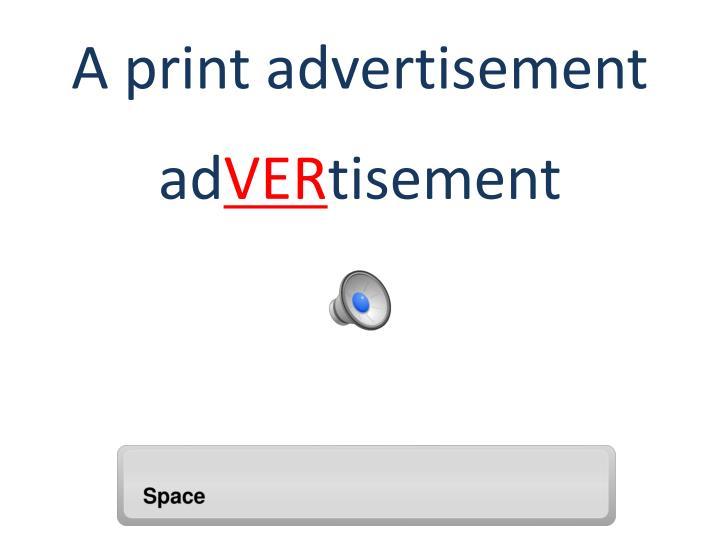 A print advertisement