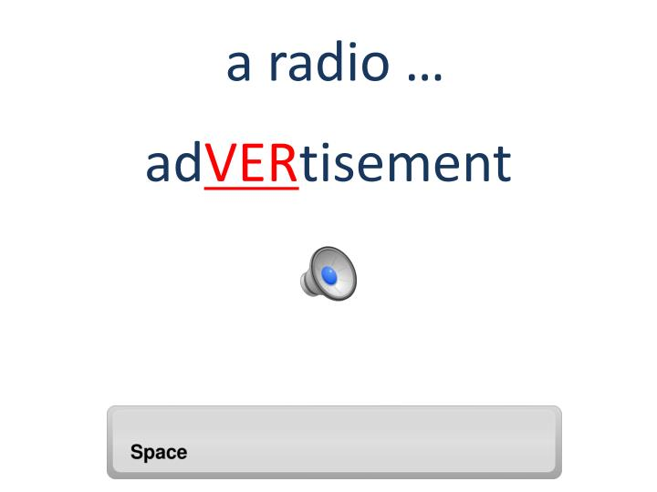 a radio …