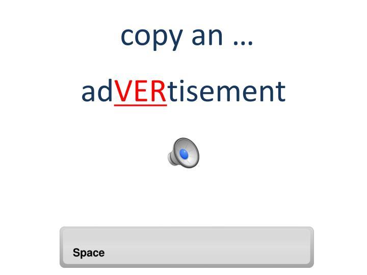 copy an …