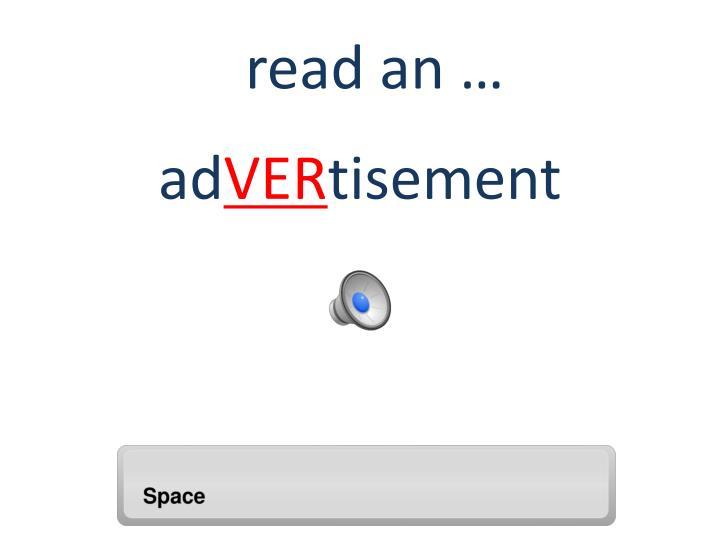 read an …