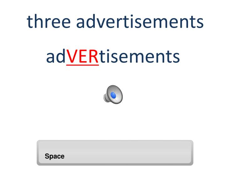 three advertisements