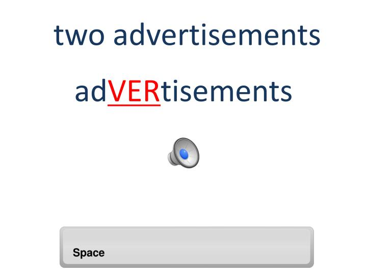 two advertisements