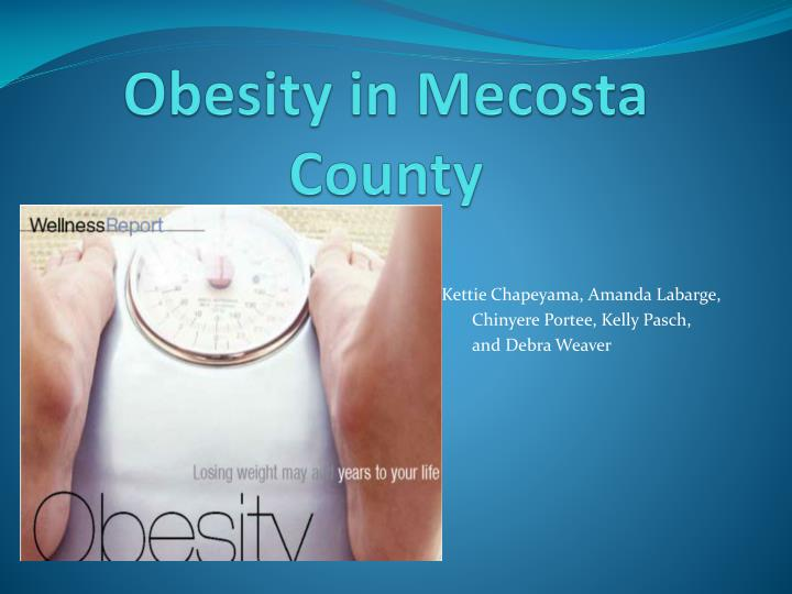 Obesity in mecosta county