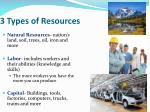 3 types of resources