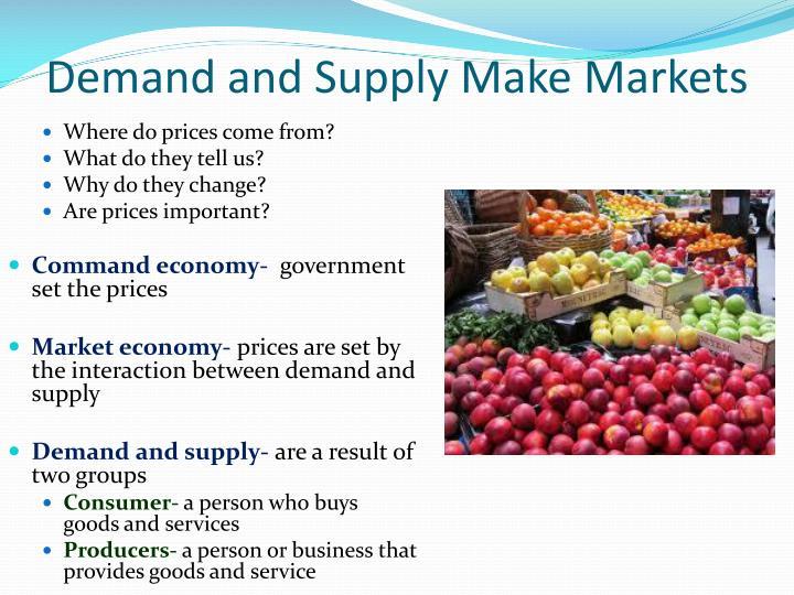 Demand and Supply Make Markets