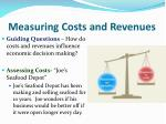 measuring costs and revenues