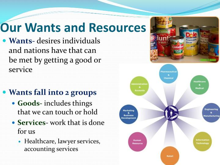 Our Wants and Resources