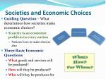 societies and economic choices