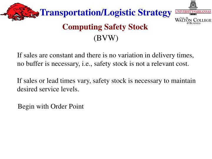 Computing Safety Stock