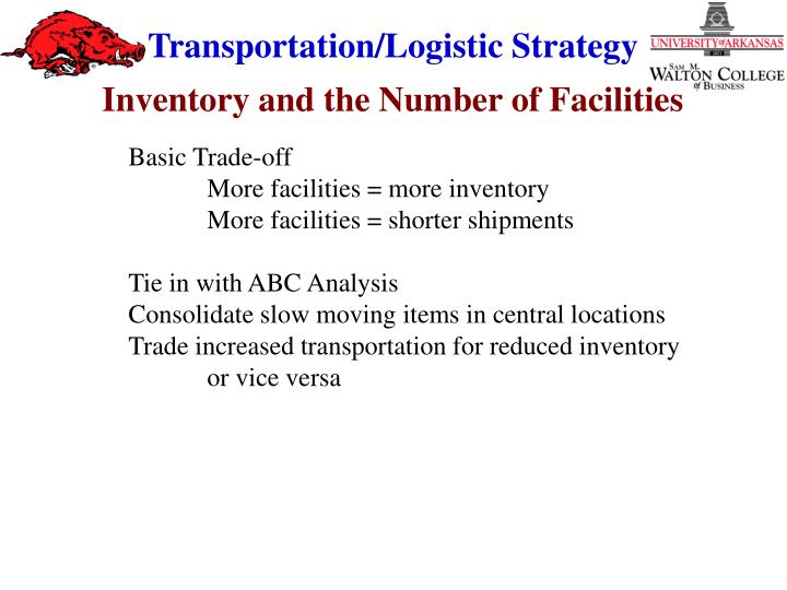 Inventory and the Number of Facilities