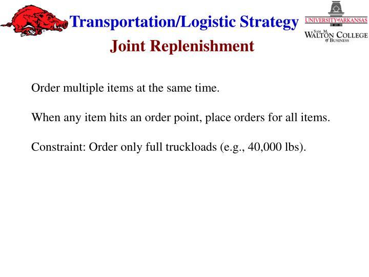 Joint Replenishment