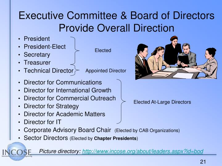 Executive Committee & Board of Directors Provide Overall Direction