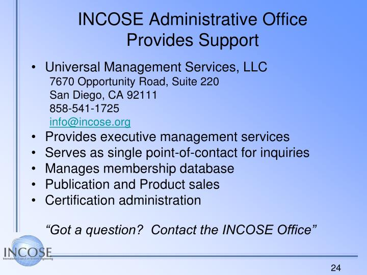 INCOSE Administrative Office