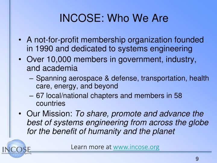 INCOSE: Who We Are