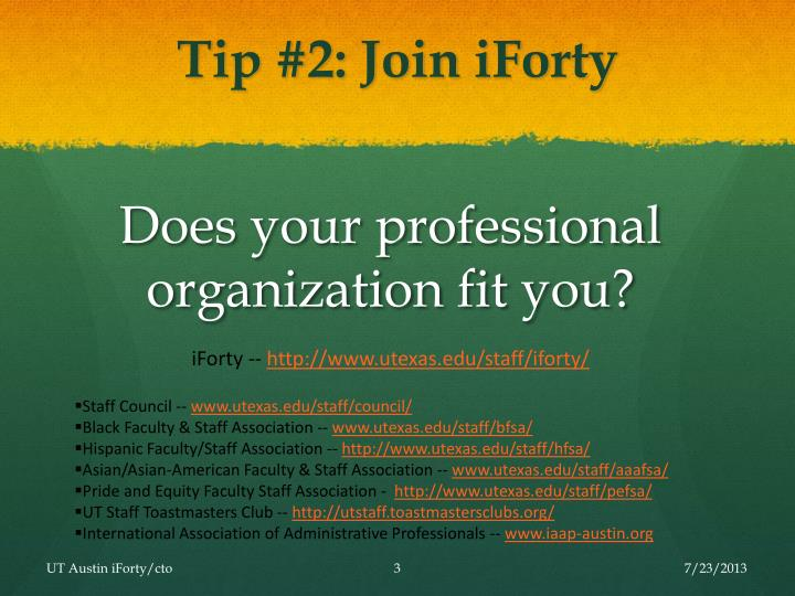Tip 2 join iforty