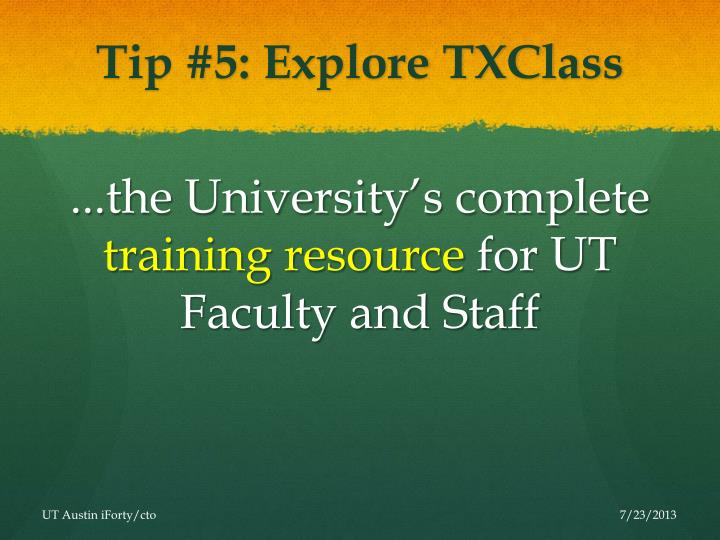 Tip #5: Explore TXClass