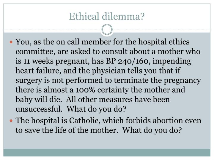 Ethical dilemma?