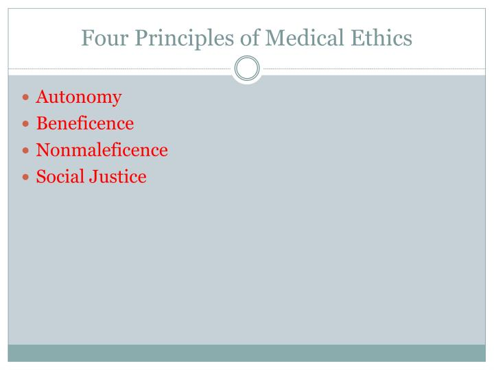 Four Principles of Medical Ethics