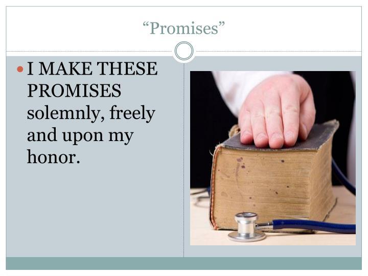 """""""Promises"""""""