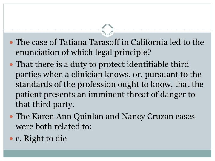 The case of Tatiana