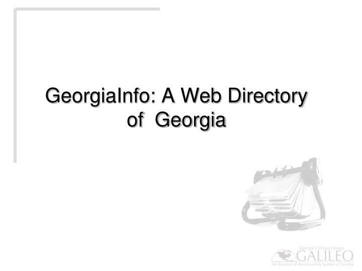 GeorgiaInfo: A Web Directory