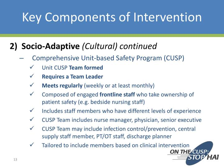 Key Components of Intervention