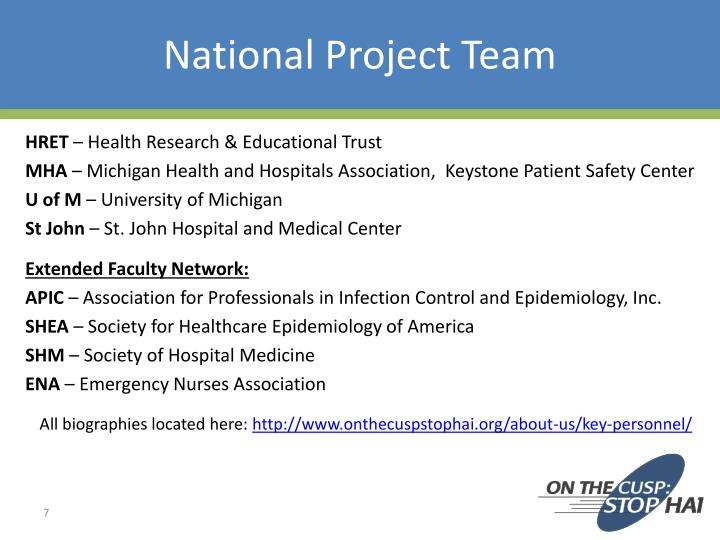 National Project Team