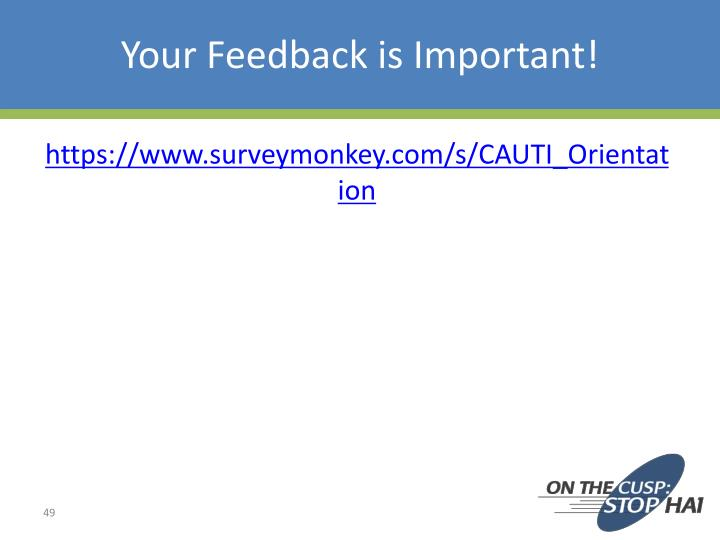 Your Feedback is Important!