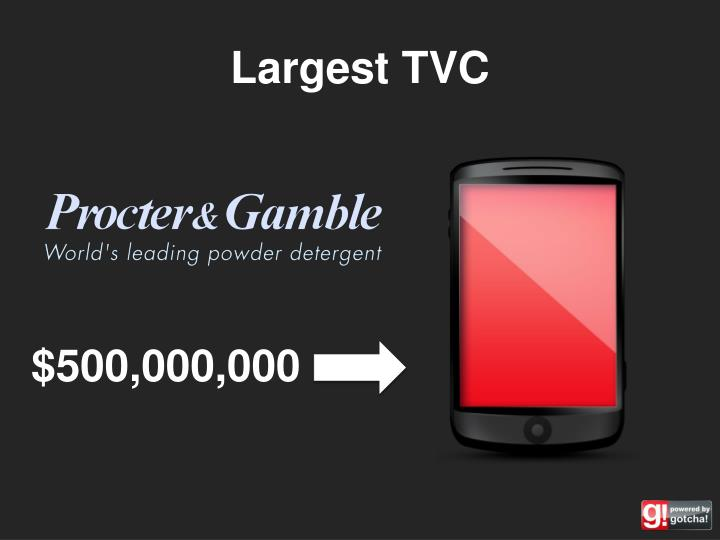 Largest TVC
