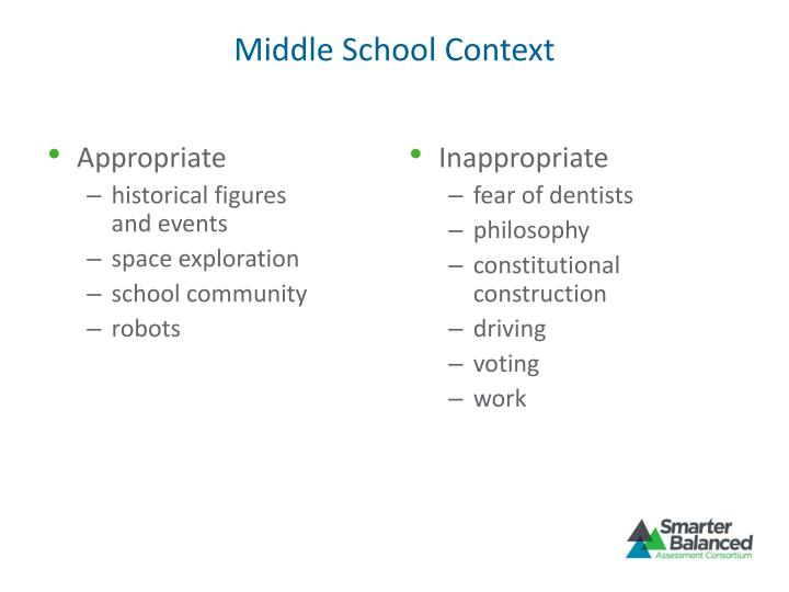 Middle School Context