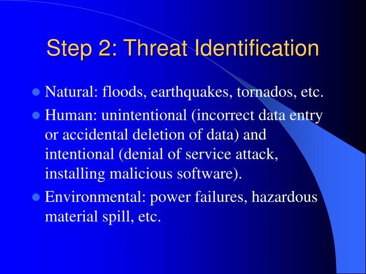 Step 2: Threat Identification