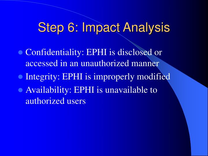 Step 6: Impact Analysis