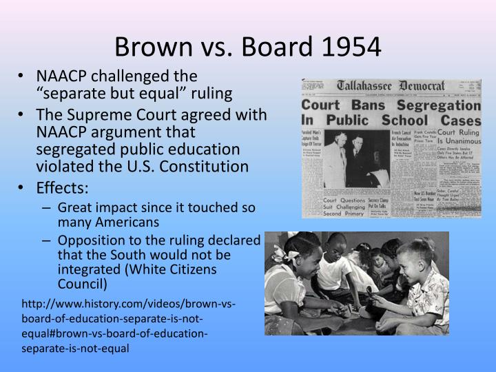 Brown vs. Board 1954