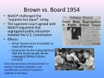 brown vs board 1954