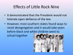 effects of little rock nine