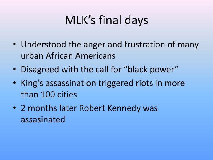 MLK's final days