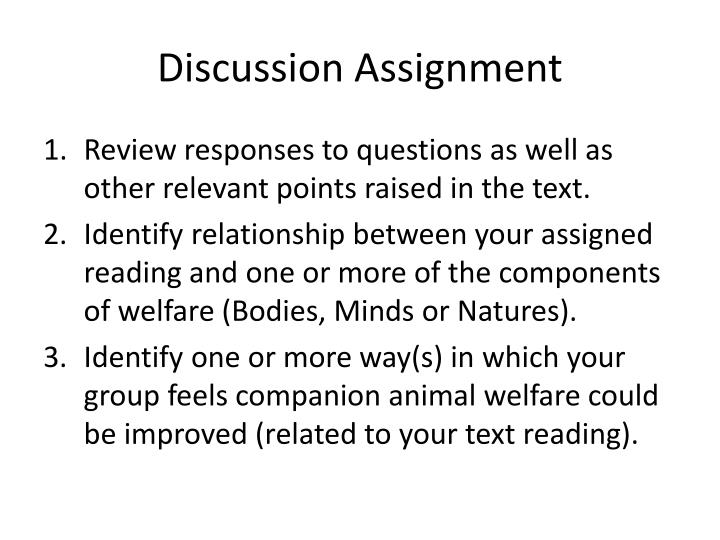Discussion Assignment