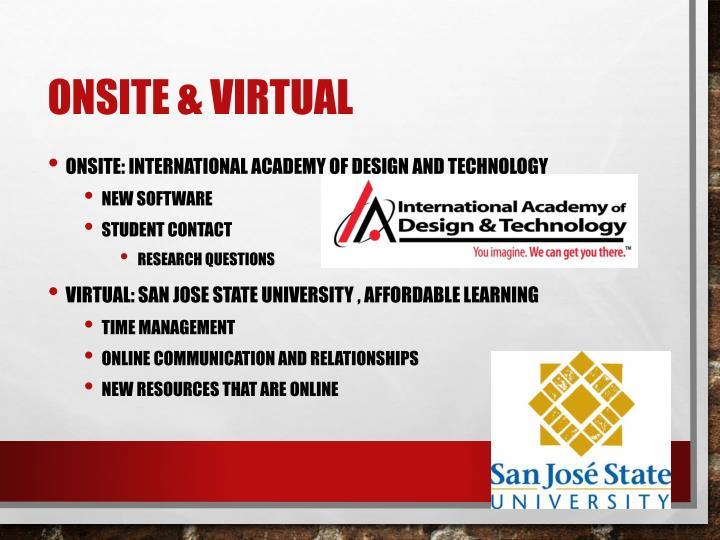 Onsite & Virtual