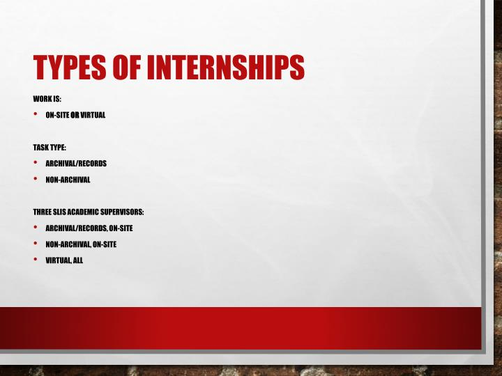Types of Internships
